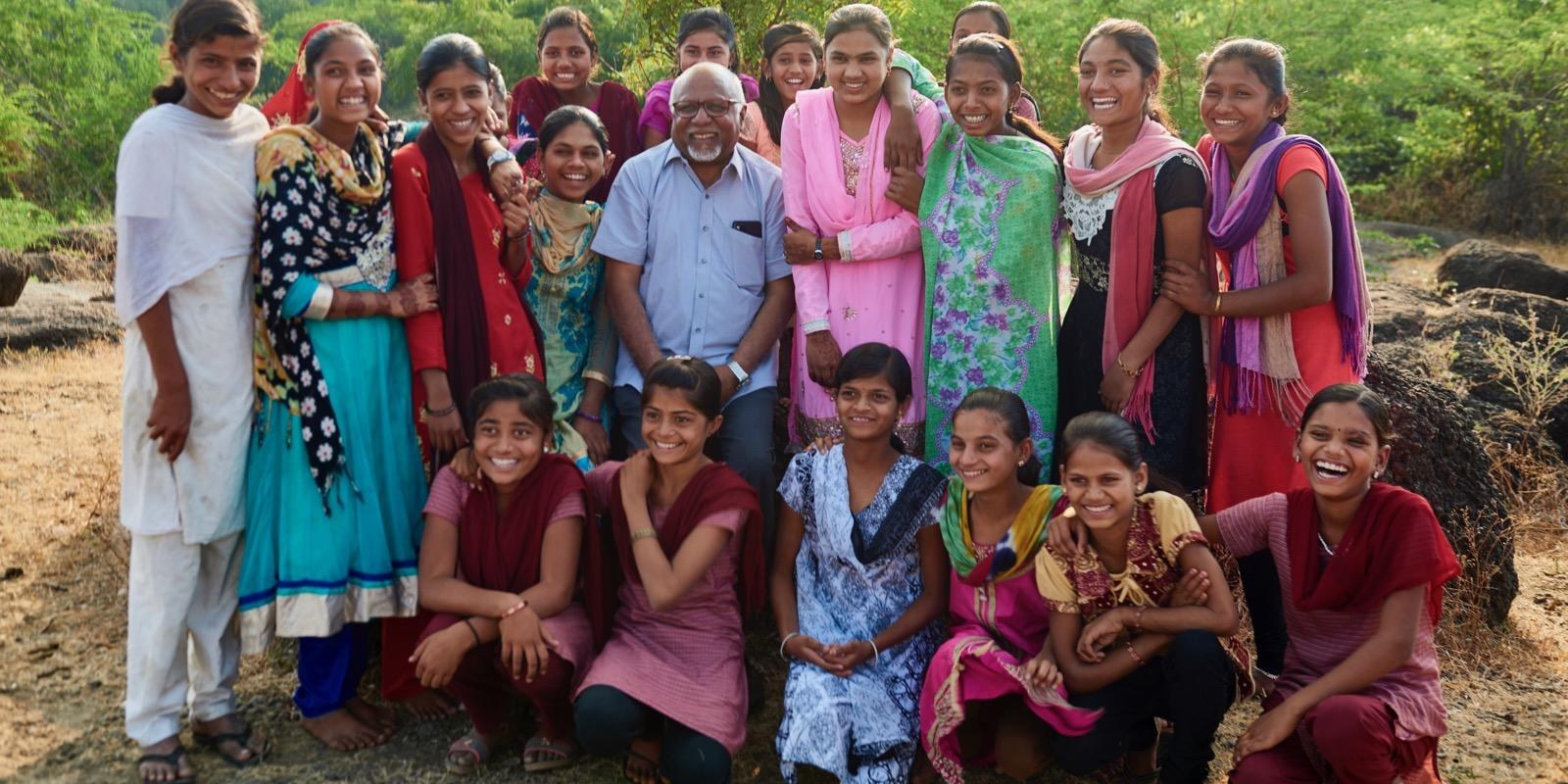 Ashok with a girlsclub