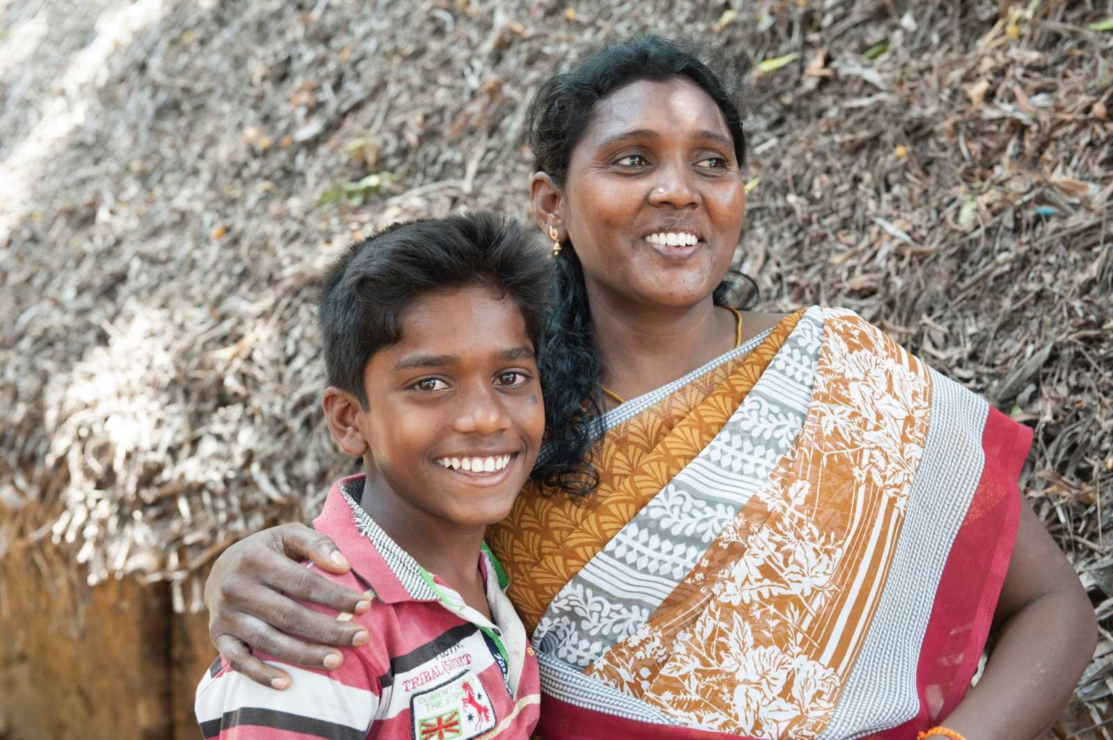 Balachandran with his mother, both look happy