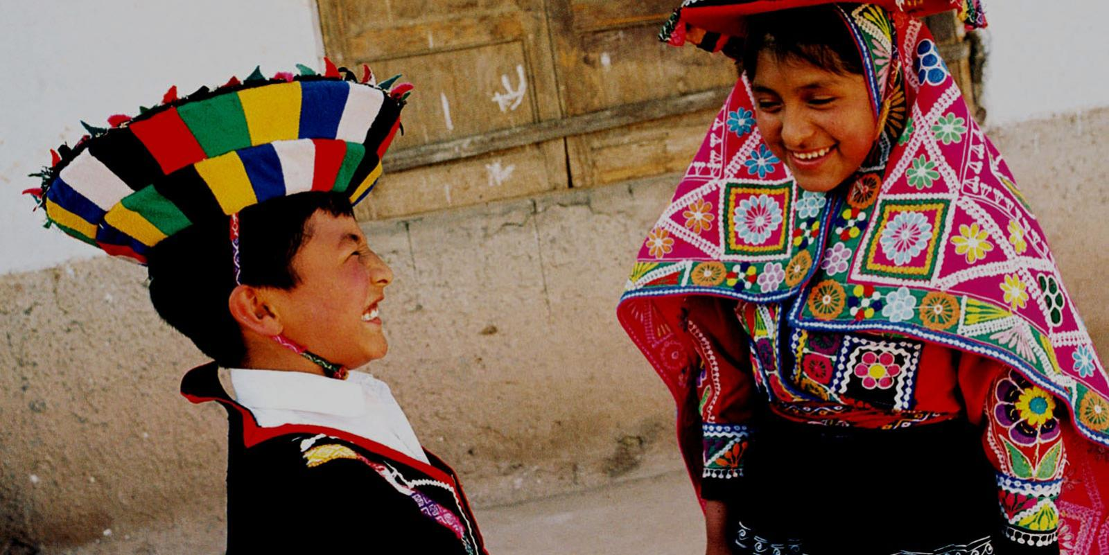 Children from Bolivia laughing