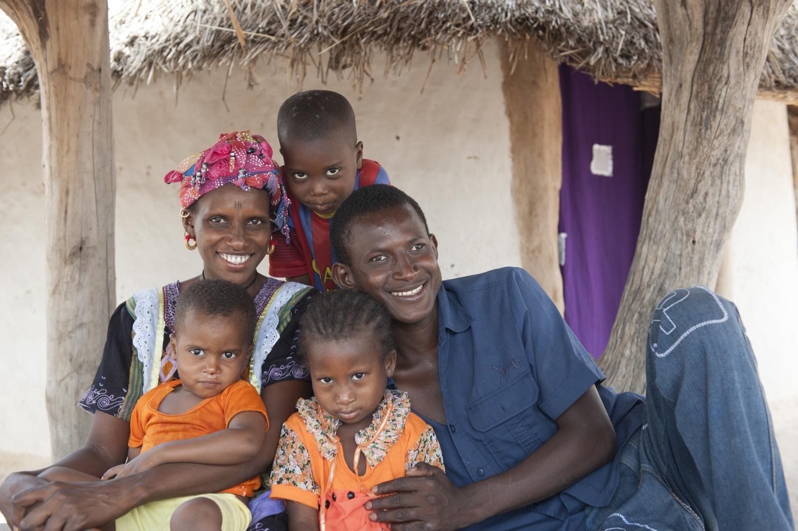 Ebrima with his family