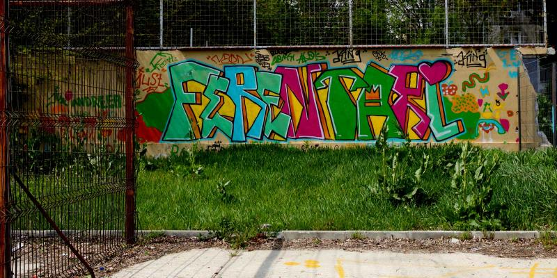 Graffitti on wall: Ferentari