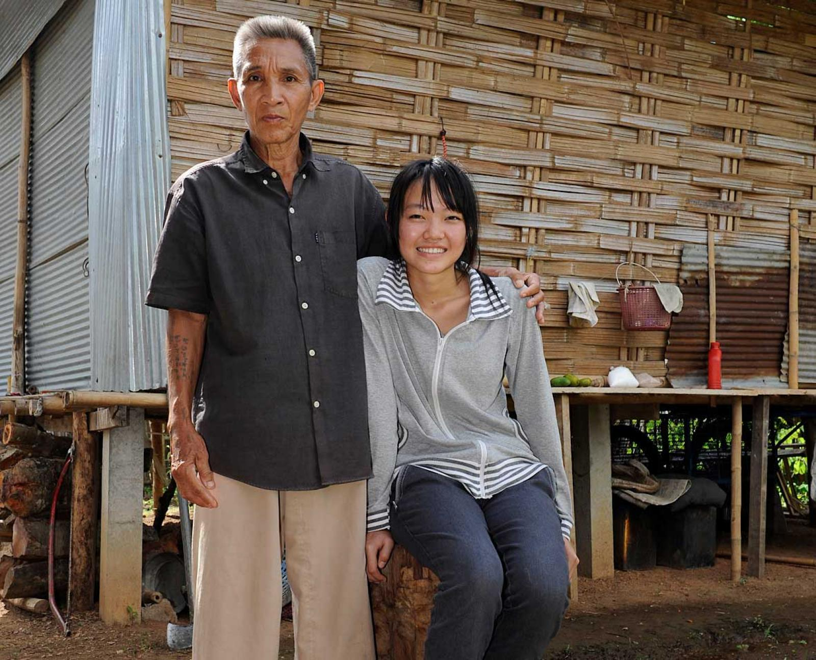 Jan Hom with her foster father.