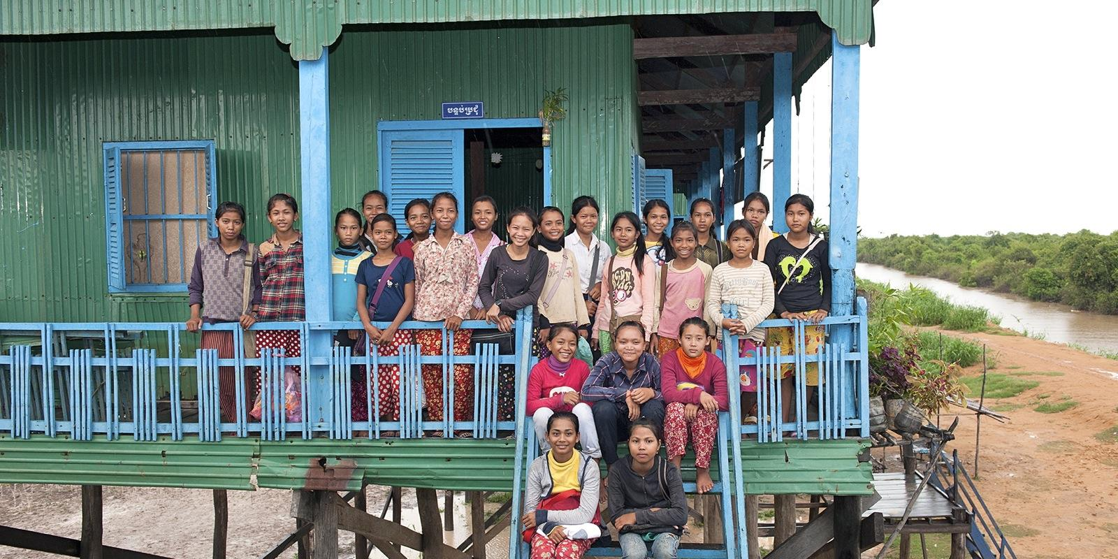 Room to read school in Cambodia