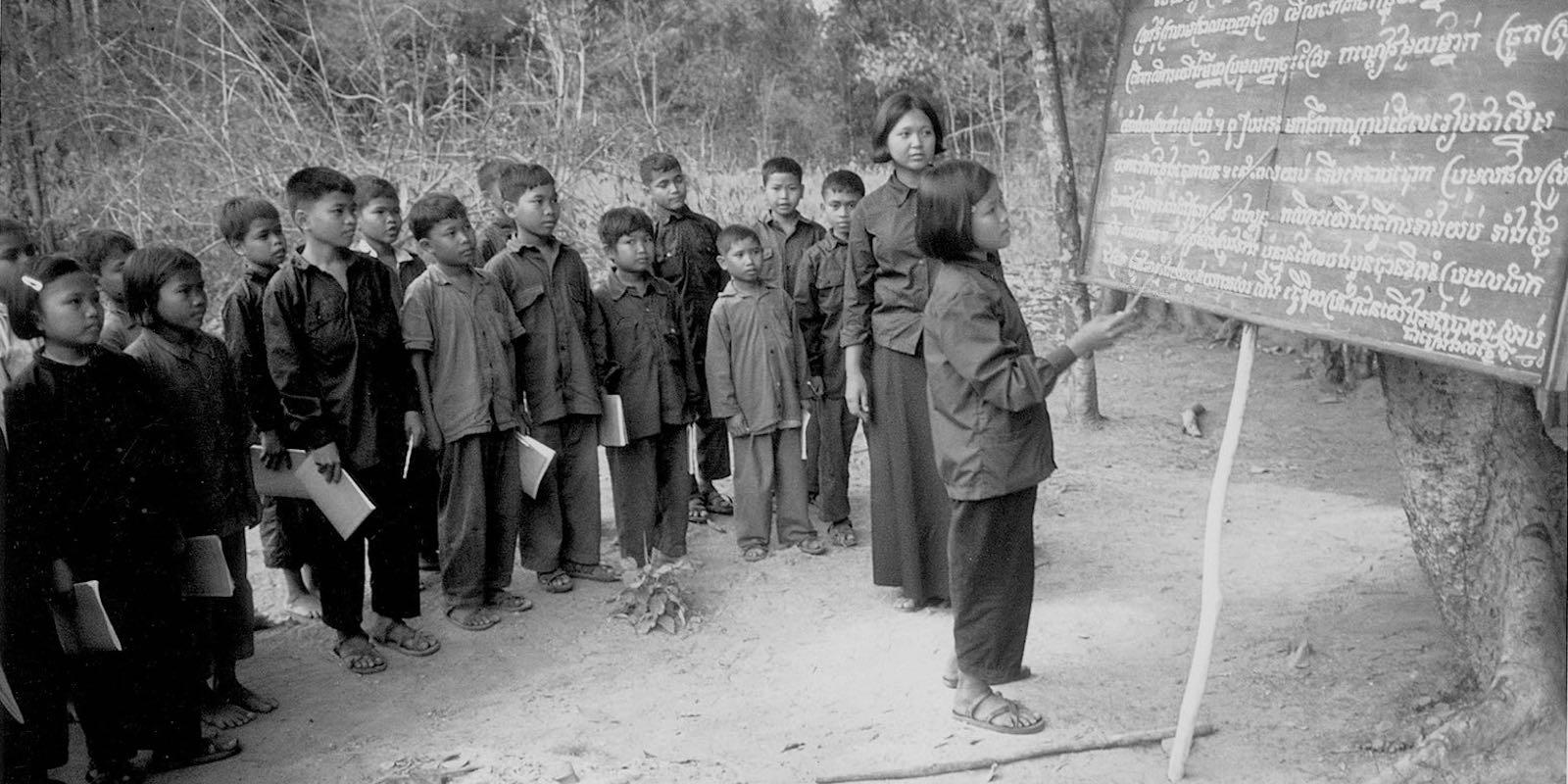 Children teaching children about the Khmer Rouge rules