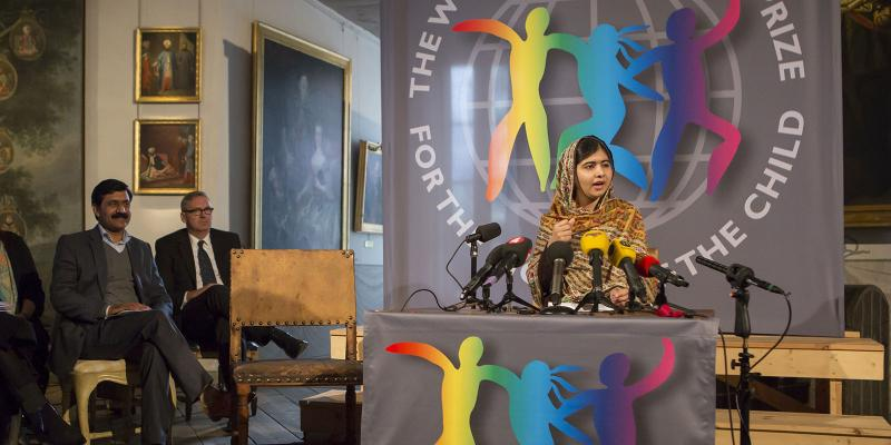 Malala holds a press conference