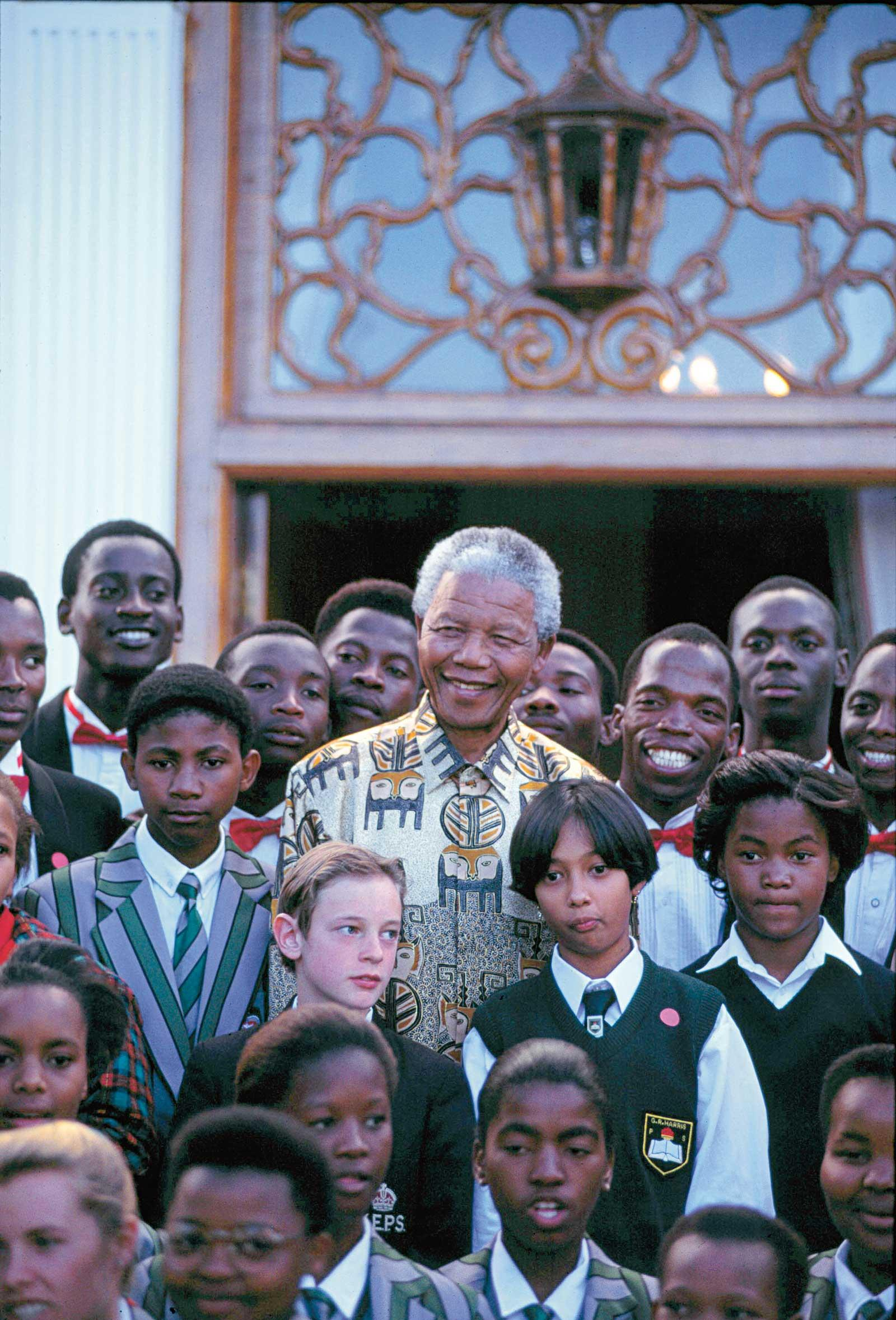 Mandela at his inauguration
