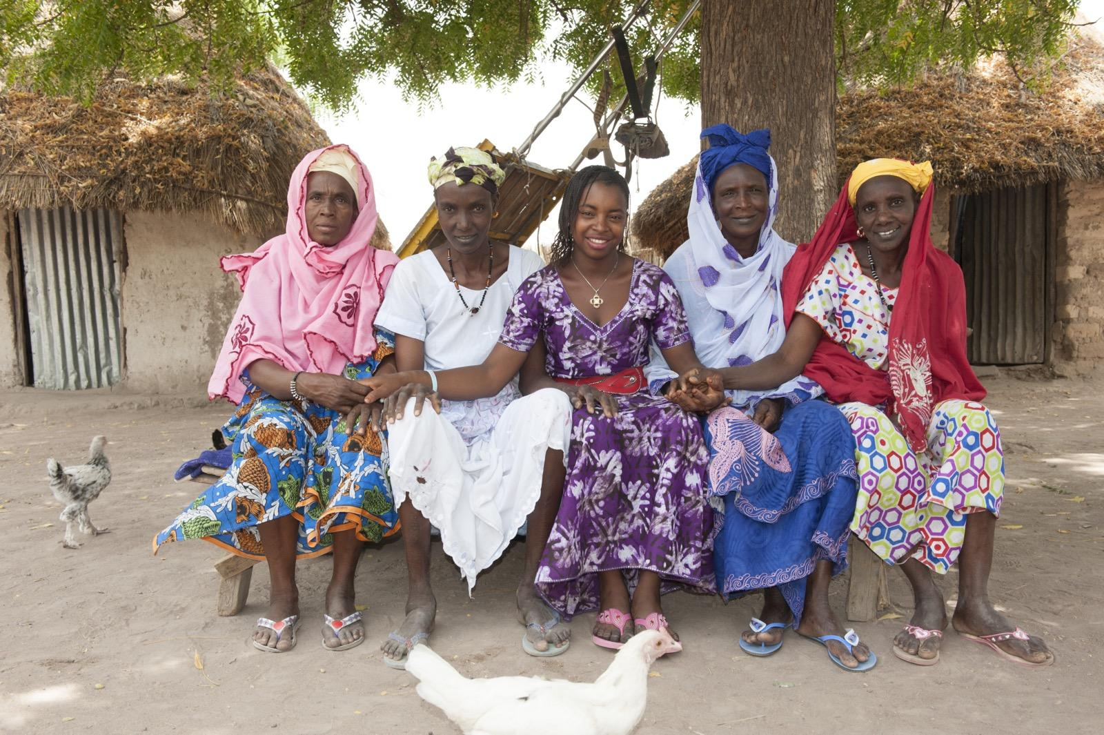 Mariama with Tostan women