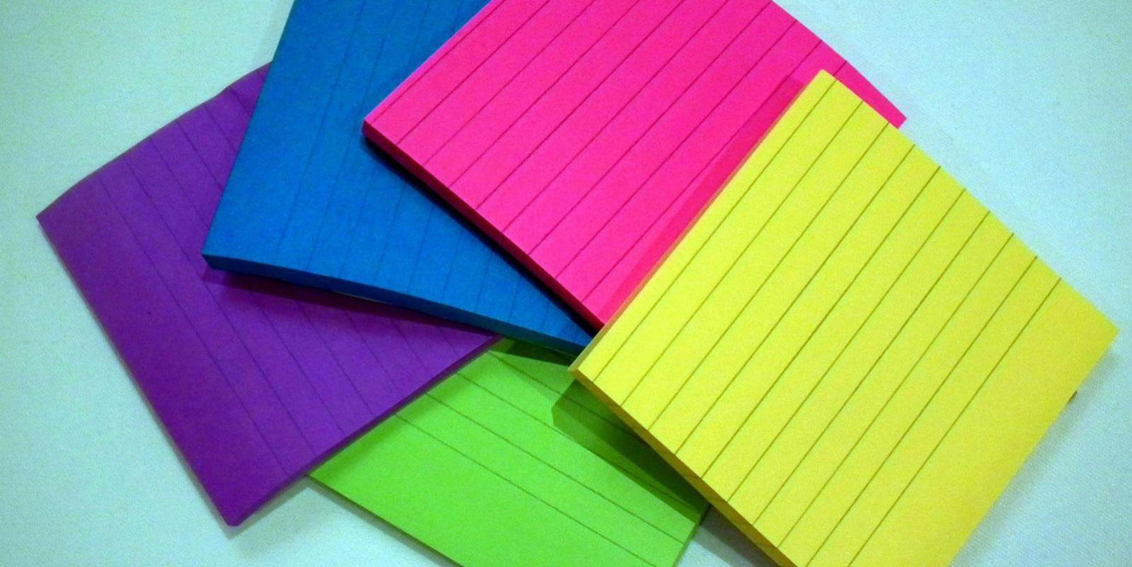Multi-colored postits