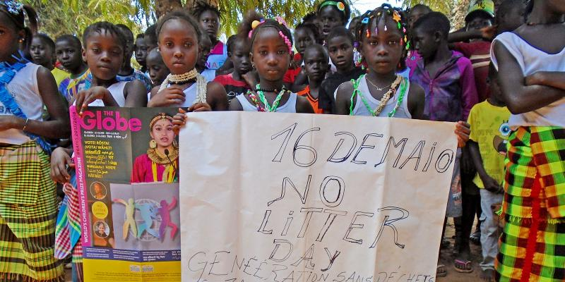 group of children on No Litter Day