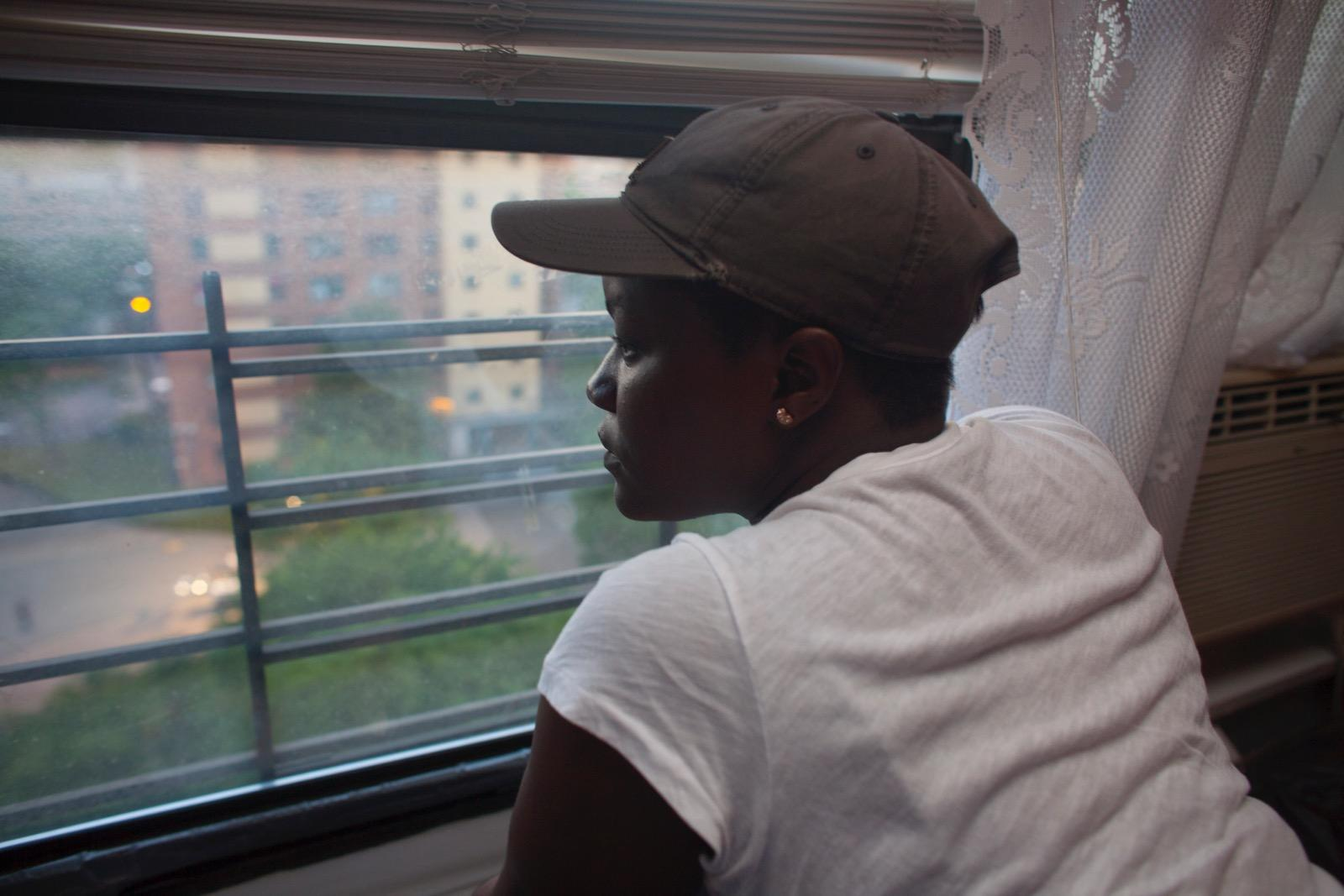 Shaquana looking out the window