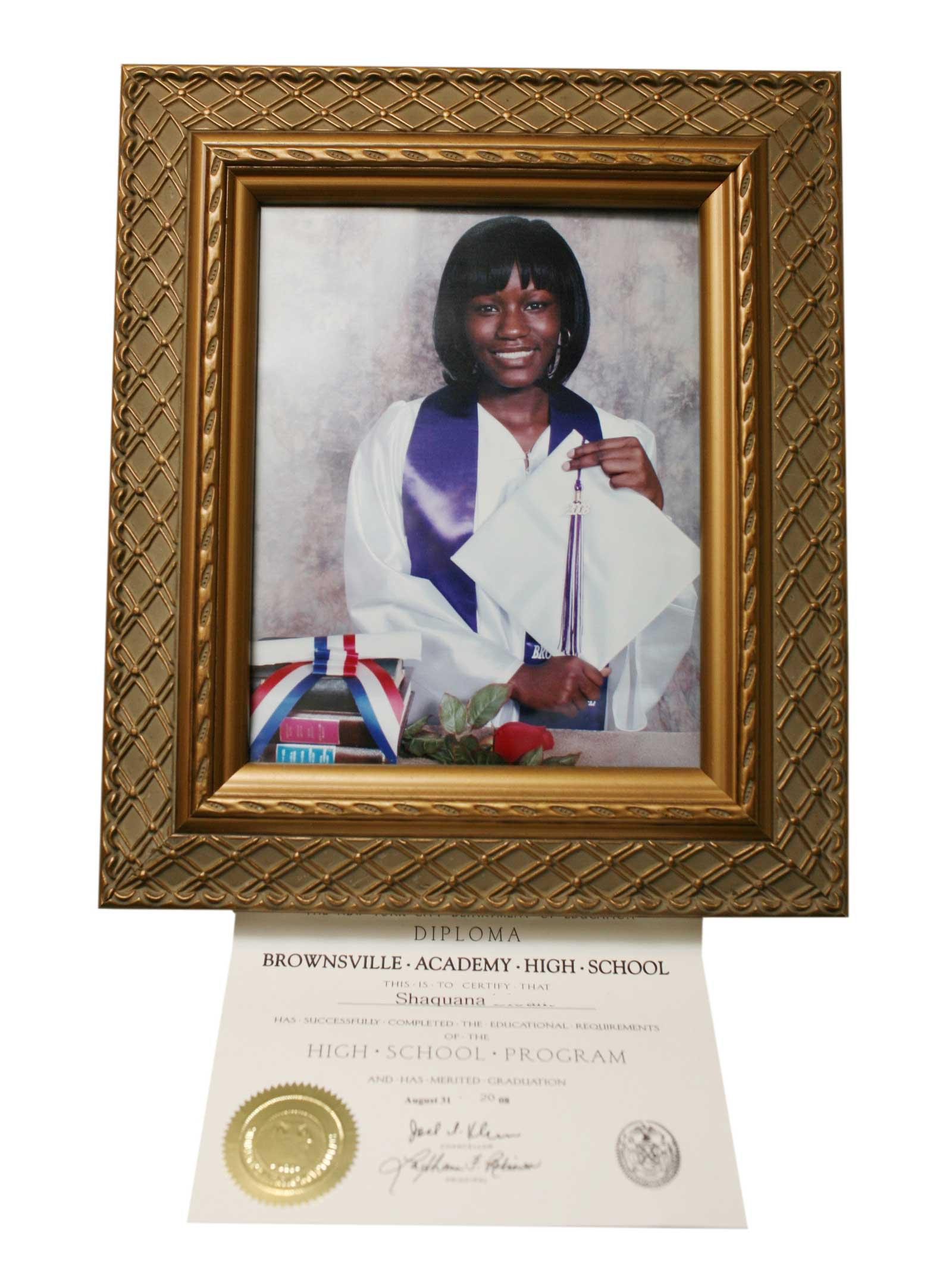 Shaquana at her graduation from High School