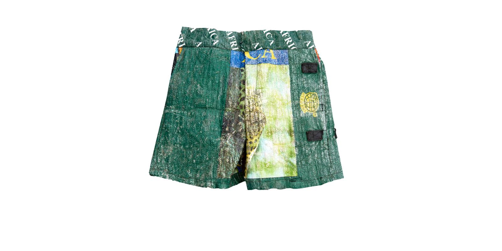 Shorts made out of trash