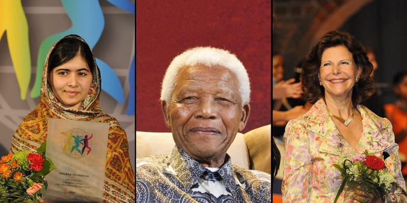 Malala, Mandela and Queen Silvia