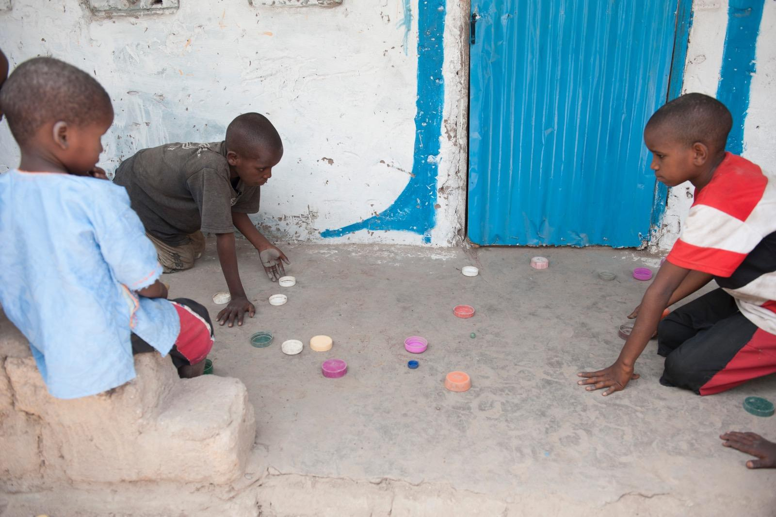 Boys playing a game