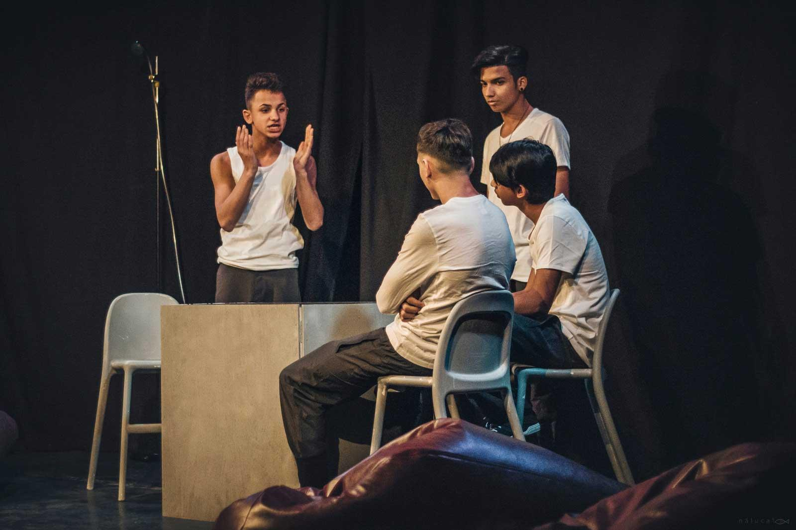 Playhood's young actors on stage