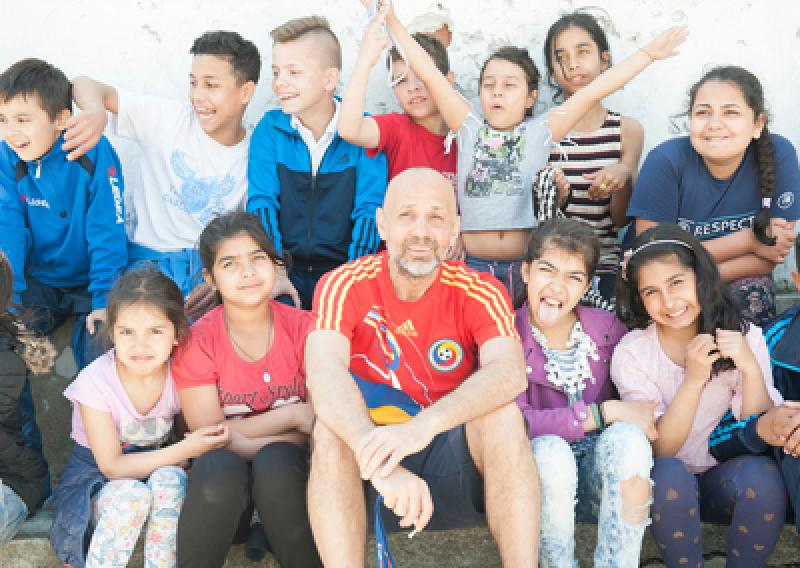 Valeriu with children