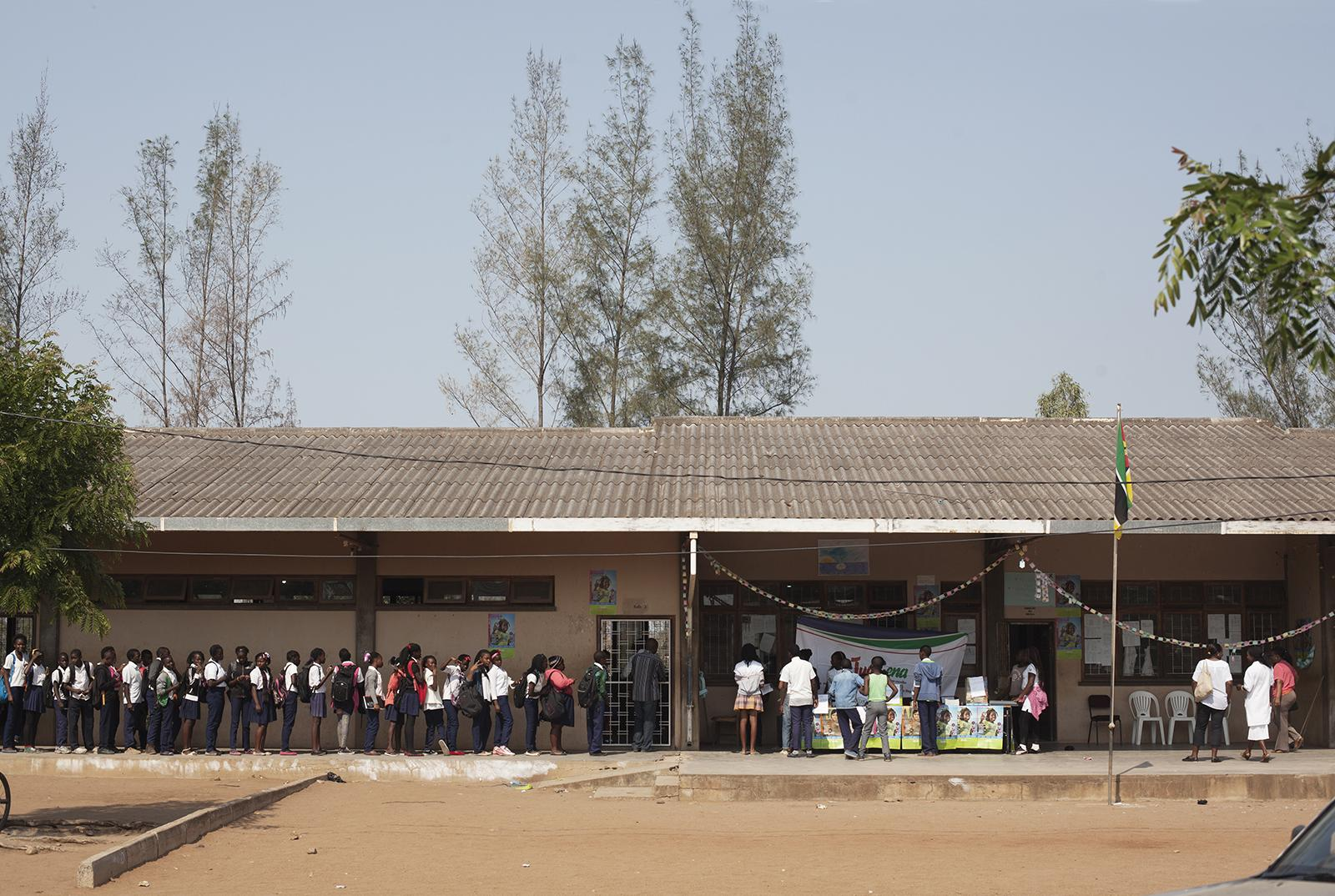 Voting in Mozambique