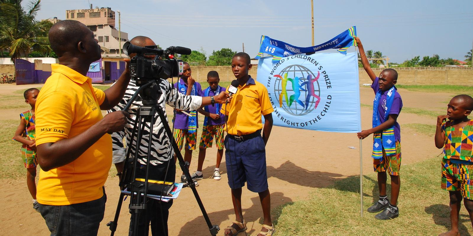 Children's Press Conference Ghana
